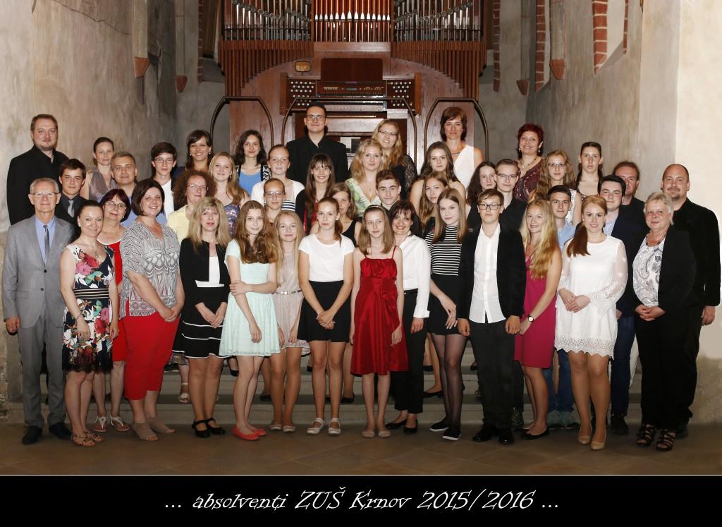Absolventi ZUŠ Krnov 2015/2016
