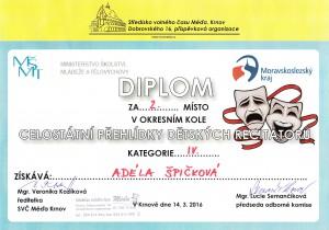 Adéla Špičková - 2.místo