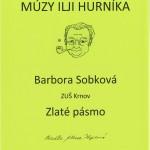 Barbora Sopková - Zlaté pásmo