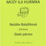 Natálie Balažíková - Zlaté pásmo