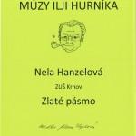 Nela Hanzelová - Zlaté pásmo