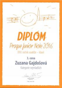 Zuzana Gajdošová 3.místo