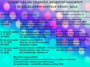 Adventní koncerty Krnov